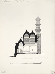 Ahmadabad: Cross section of Muhafez Khan's mosque